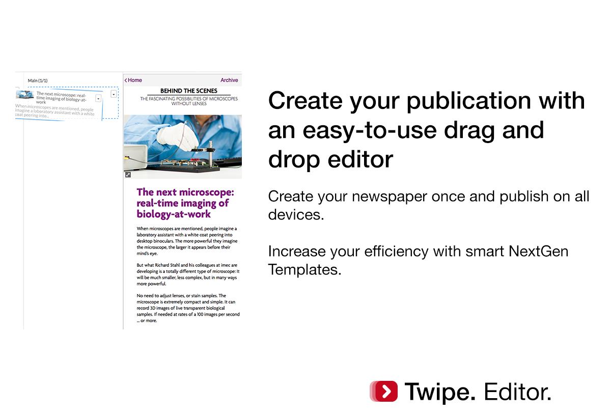 2.Twipe. Editor