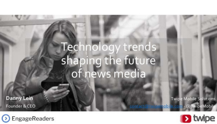 Technology trends shaping the future of news media