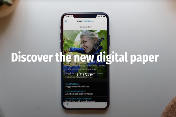 Luxemburger Wort joins the Twipe platform with new Digital Paper