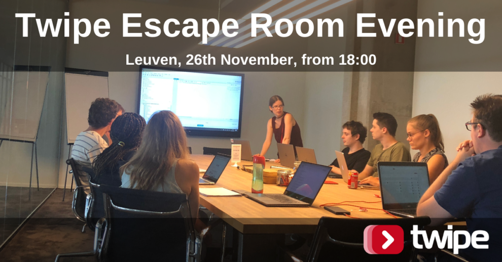 This image has an empty alt attribute; its file name is Twipe-Escape-Room-Evening-Leuven-26th-November-2-990x518.png