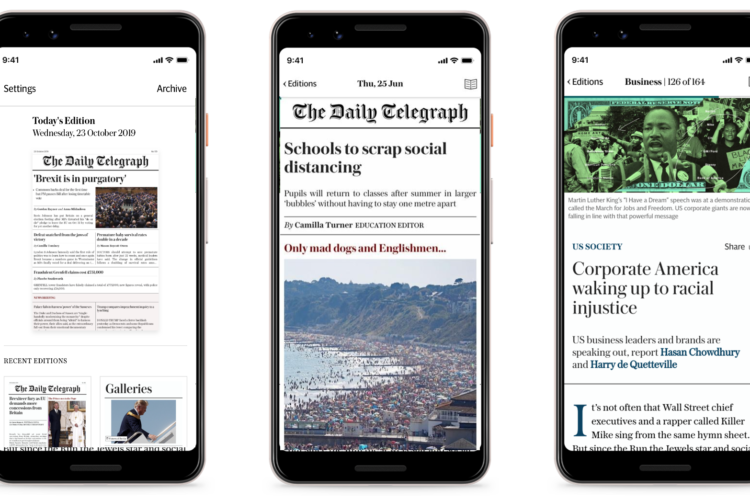 5 lessons from the launch of The Telegraph's new digital edition app