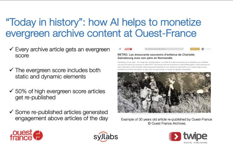 """Today in history"": how AI helps to monetize evergreen archive content at Ouest France"