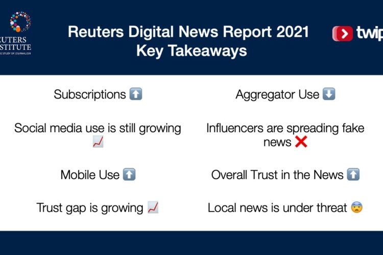 Takeaways from the Reuters Digital News Report 2021